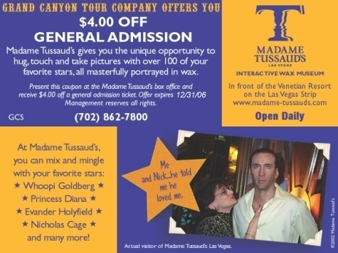 Madame tussauds las vegas discount coupons
