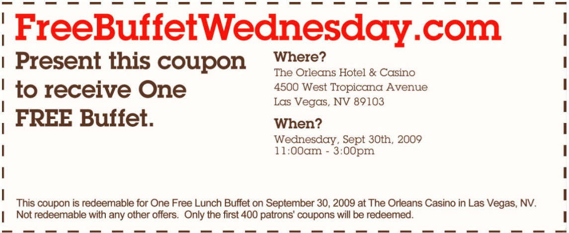 Bacchanal buffet discount coupon