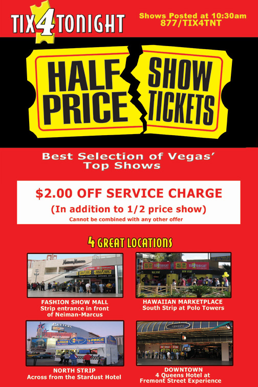 Las vegas shows discount coupons