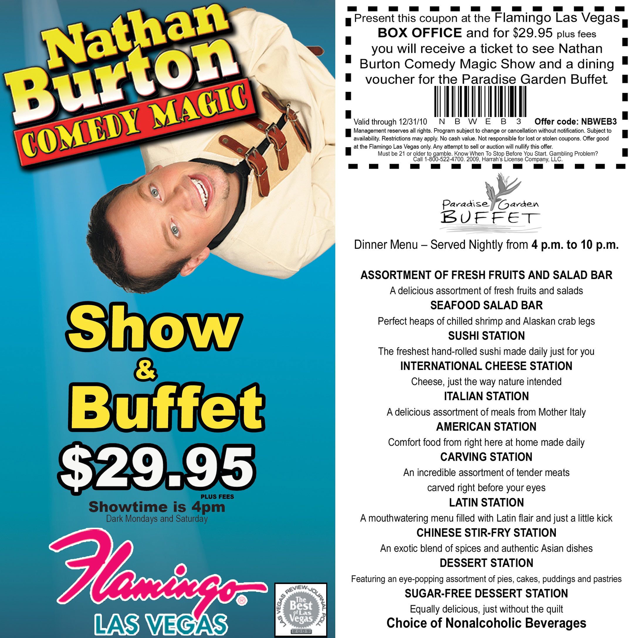 Las vegas discount shows and coupons