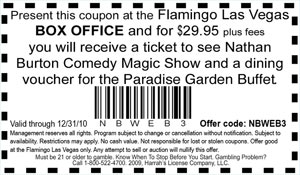 Flamingo las vegas buffet coupons